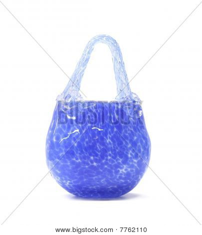 Blue Glass Basket