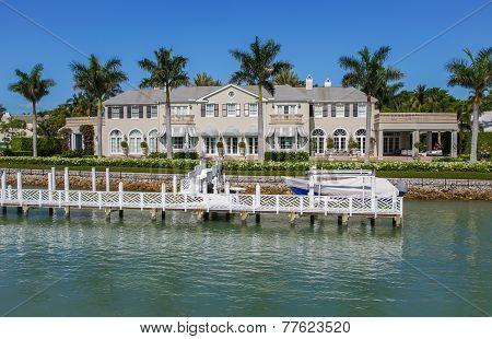 Waterside Home In Naples, Florida