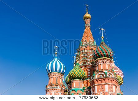 poster of The Cathedral of Vasily the Blessed commonly known as Saint Basil's Cathedral is a former church in Red Square in Moscow Russia. A world famous landmark it has been the hub of the city's growth since the 14th century and was the city's tall