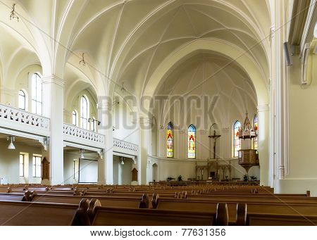 Interior Of The Evangelical-lutheran Stt. Peter-and-paul's Cathedral In Moscow
