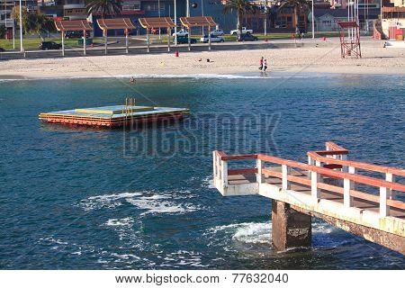 central urban beach in Antofagasta, Chile