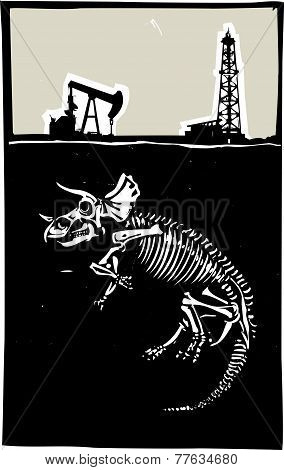 Triceratops Fossil Fuel Exploration