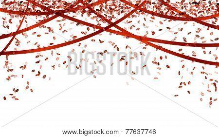 Falling Red Confetti