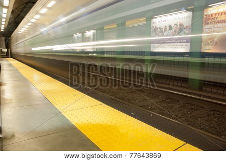 Train station motion blur