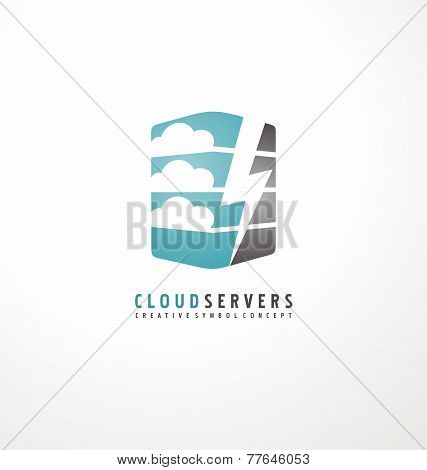 Creative logo design template for cloud computing company
