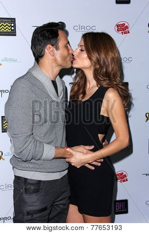 LOS ANGELES - DEC 5:  Kevin Undergaro, Maria Menounos at the Maria & Kevin's 1st Annual Digi-Ball at the Private Location on December 5, 2014 in Los Angeles, CA