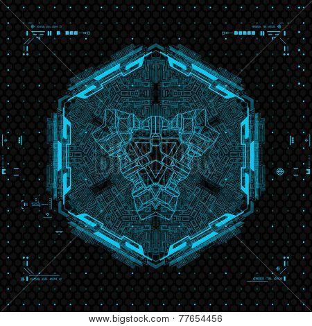 Futuristic Graphic User Interface. poster
