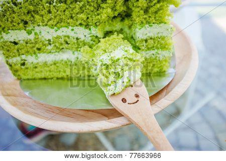 Japanese Matcha Green Tea Cake