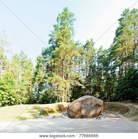 Second Largest Rock In Anyksciai District Of Lithuania Puntukas