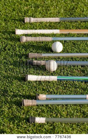 Lacrosse Stick Handles And Balls