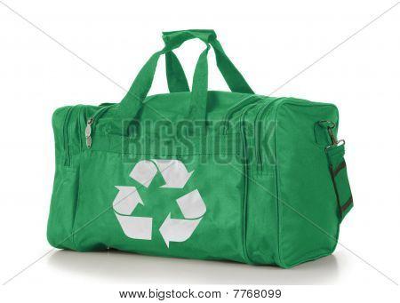 Go Green Recycle Symbol Duffel Bag