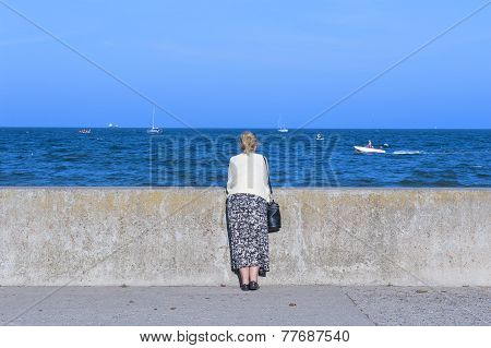 Woman at the sea side