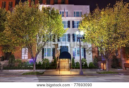 Blair House Building Second White House Night Washington Dc