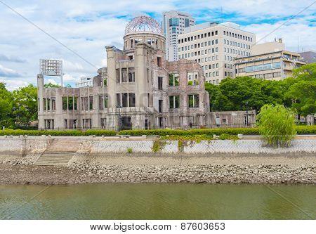 Hiroshima Peace Memorial - Genbaku atomic bomb dome, Japan