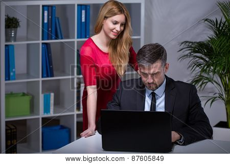Flirting With Boss