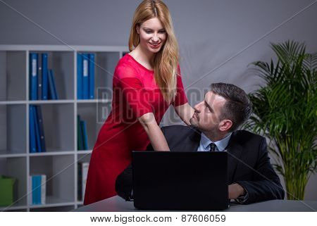 Courting Woman At Work