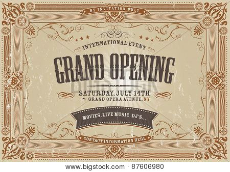 Vintage Horizontal Invitation Background