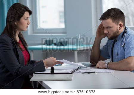 Lawyer In Doctor's Office