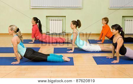 Yoga. Downward Facing Dog Position