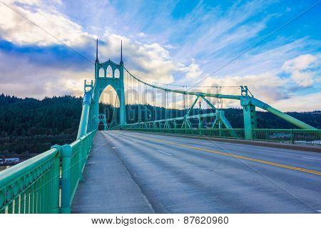 Beautiful Image of Saint John's Bridge in Portland Oregon poster