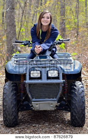 Teenager On A Four Wheeler