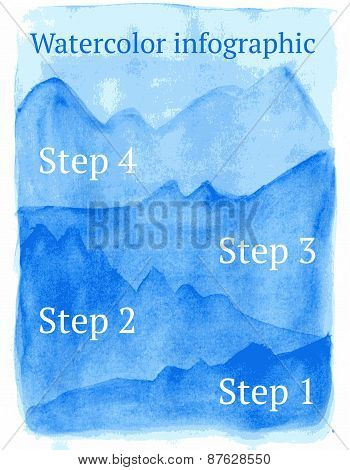 Sketch Watercolor Infographic