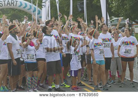 Excited And Ready To Color Run