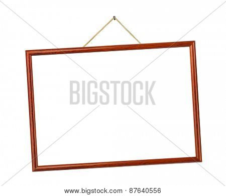 Retro frame on string isolated on white background poster