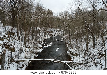 The winter river
