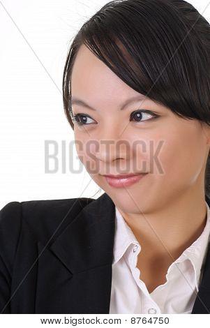 Shy Business Woman