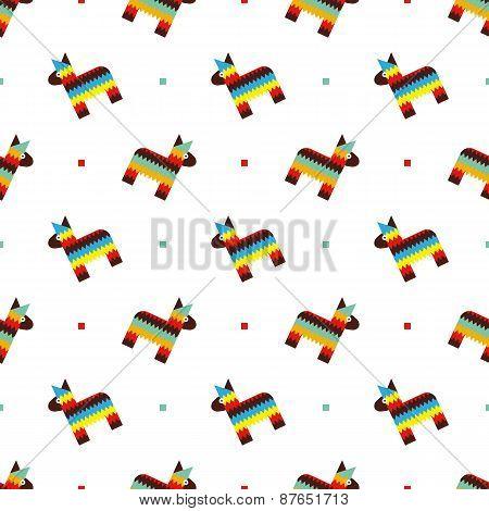 Mexican horse pinata pattern