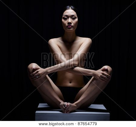 Beautiful Asian Girl Yoga