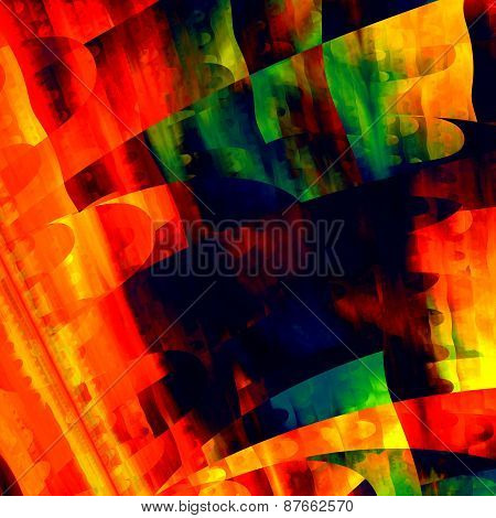 Artistic colorful art. Creative brushstrokes texture. Modern abstract background. Red green color.
