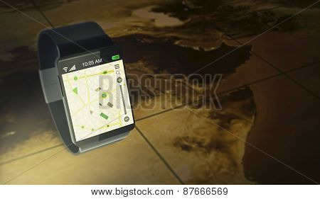 Smartwatch And Gps - Elements Of This Image Furnished By Nasa