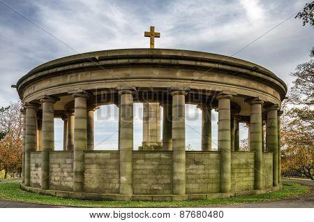 War memorial in Greenhead park, Huddersfield.