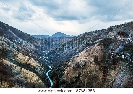 The Canyon Of Tara River (kanjon Rijeke Tare) In Montenegro, The