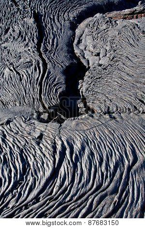 Closeup shot of lava formations in Santiago Island, Galapagos