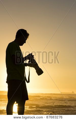 Silhouetted Landscape Photographer