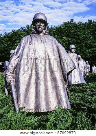 Platoon At The Korean War Memorial