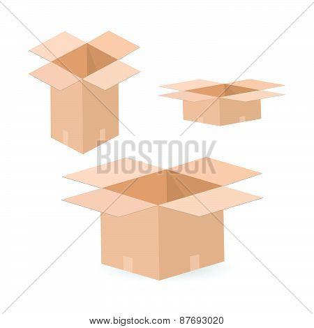 Cardboard Boxes Illustration