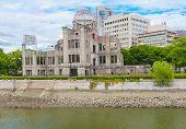 Hiroshima Peace Memorial - Genbaku atomic bomb dome, Japan poster
