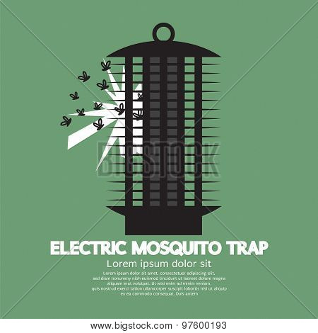 Electric Mosquito Trap Vector Illustration. EPS 10 poster