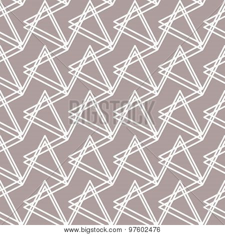 Abstract Seamless Pattern With Triangular Elements