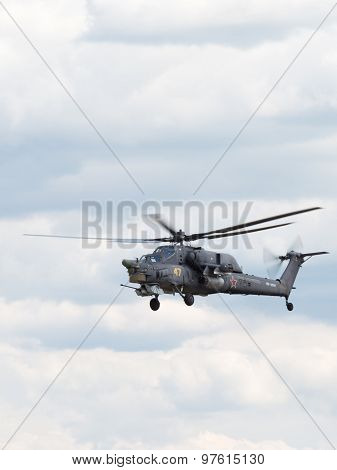 Military Helicopter Mi-28 In Flight