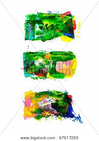Set of abstract hand painted backgrounds