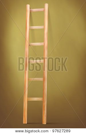 Wooden Ladder On Vintage Background