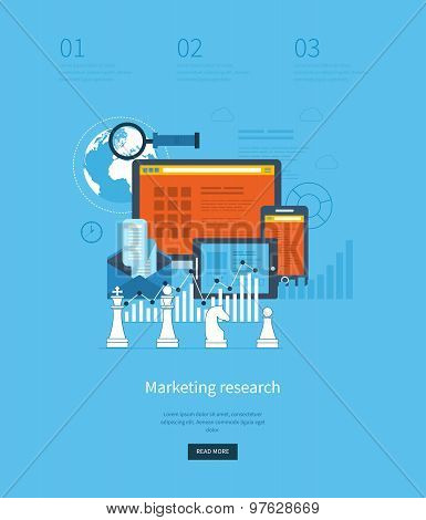 Flat design illustration concepts for business analytics and strategy planning, consulting, programm