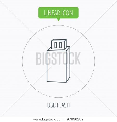 USB drive icon. Flash stick sign.