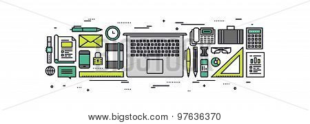 Modern Business Line Style Illustration