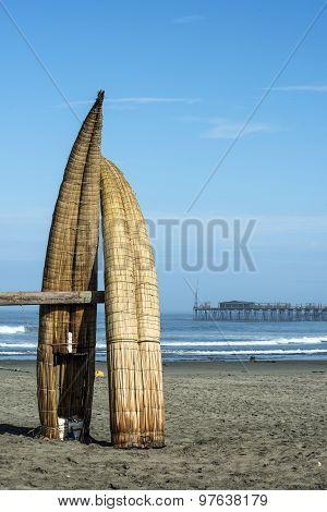 Traditional Reed Boats (caballitos De Totora), Pimentel, Peru